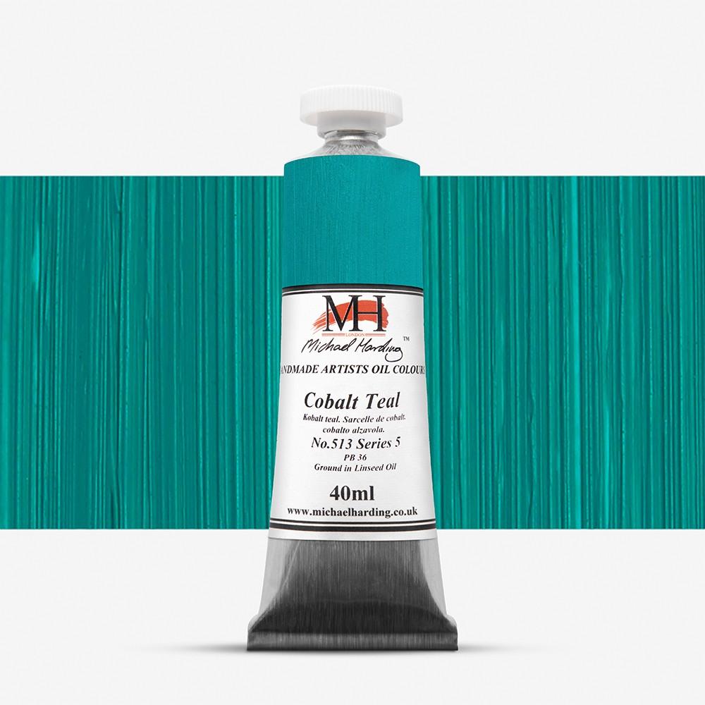 Michael Harding : Oil Paint : 40ml : Cobalt Teal
