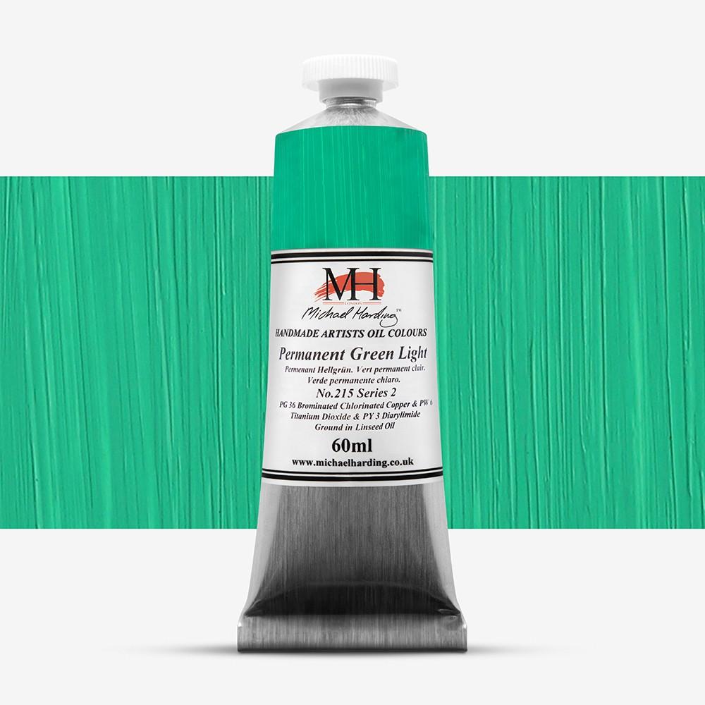 Michael Harding : Oil Colour : 60ml Permanent Green Light