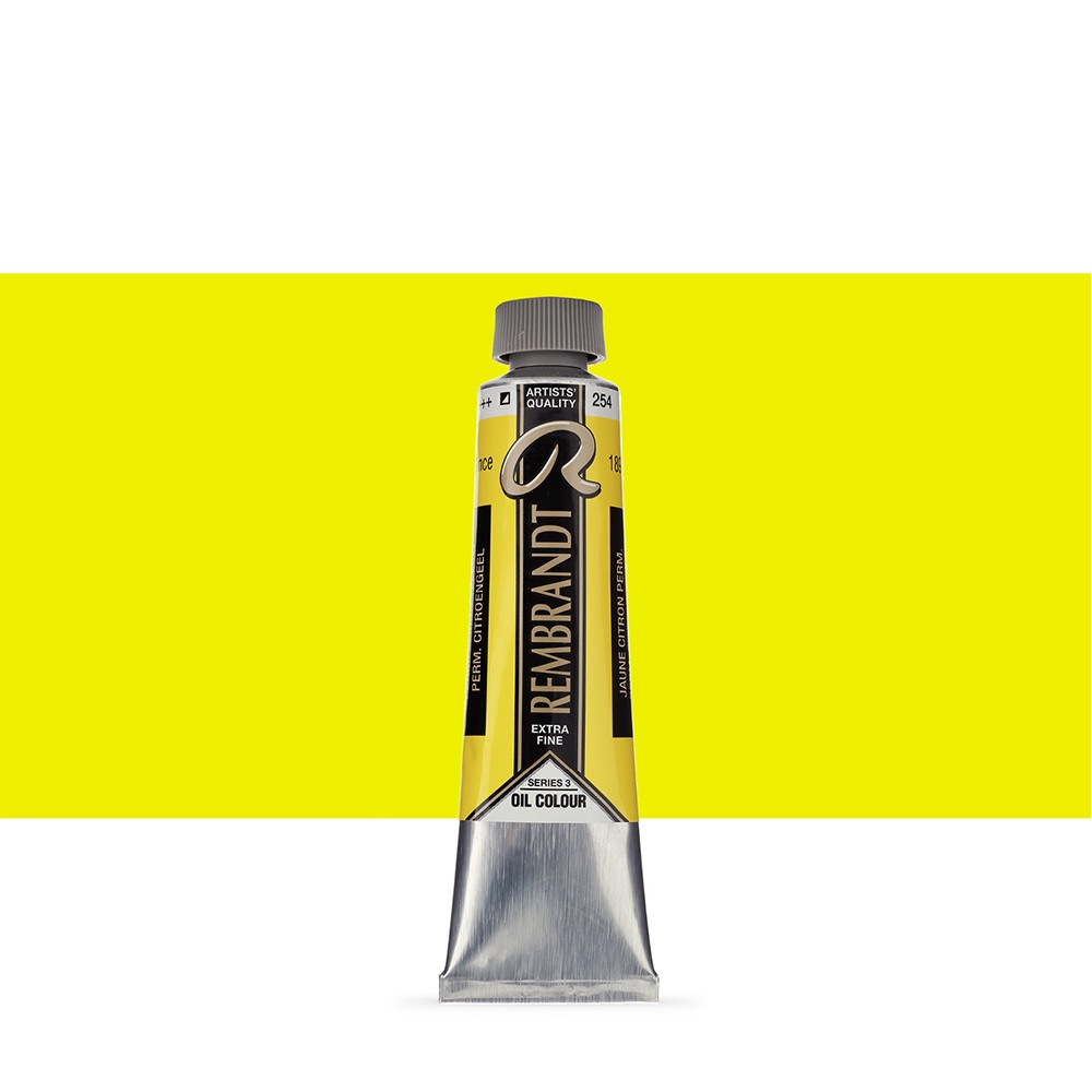 Talens : Rembrandt Oil Paint : 40 ml Tube : Permanent Lemon Yellow