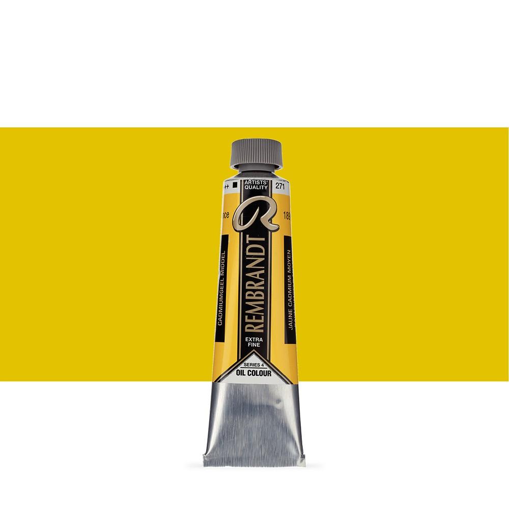 Talens : Rembrandt Oil Paint : 40 ml Tube : Cadmium Yellow Medium