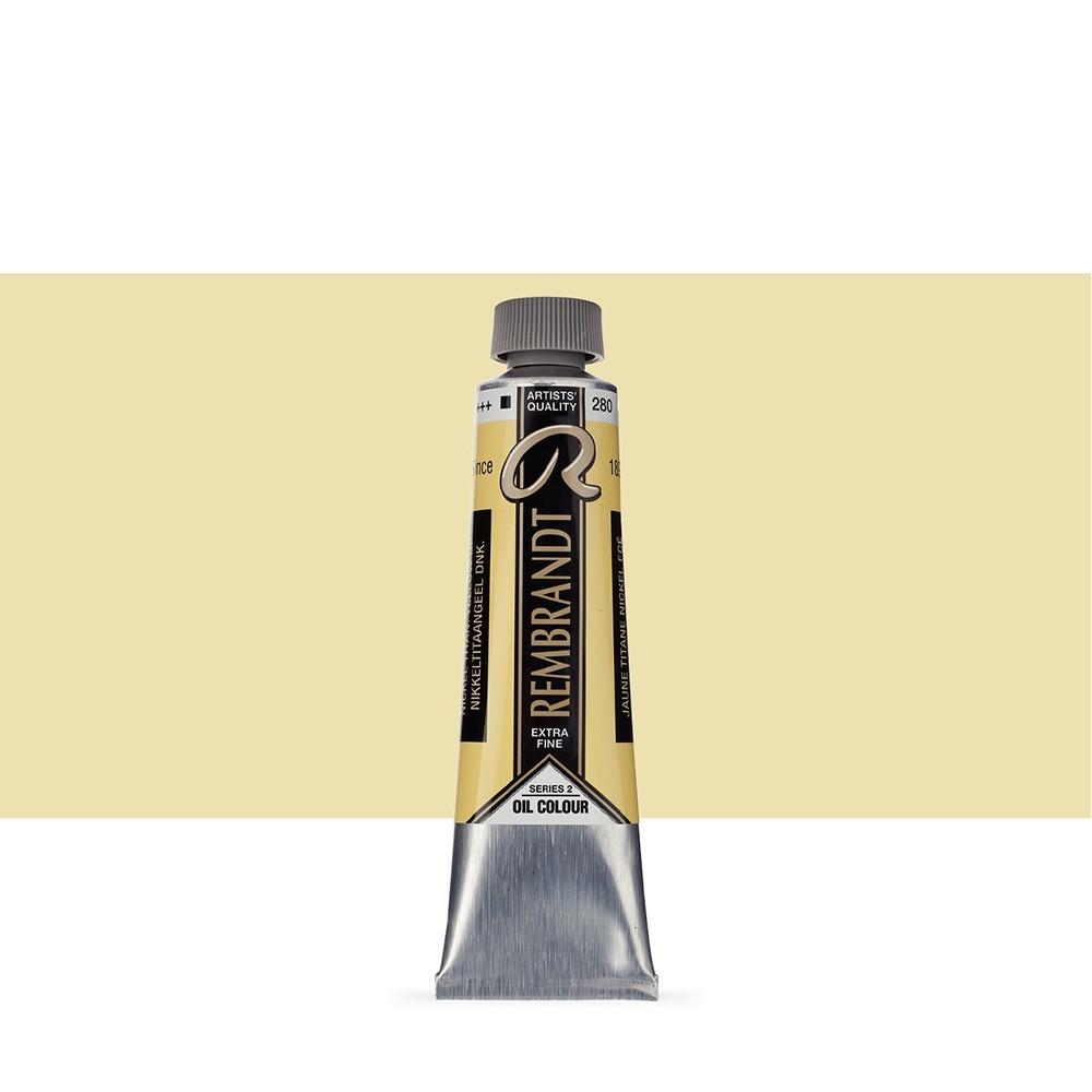 Talens : Rembrandt Oil Paint : 40 ml : Nickel Titanium Yellow Deep