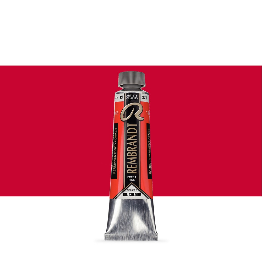 Talens : Rembrandt Oil Paint : 40 ml Tube : Permanent Red Deep
