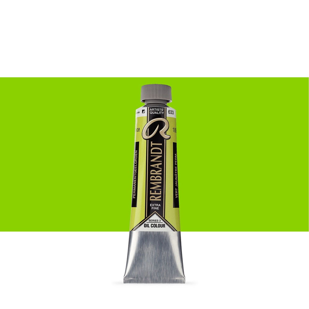 Talens : Rembrandt Oil Paint : 40 ml : Permanent Yellow Green