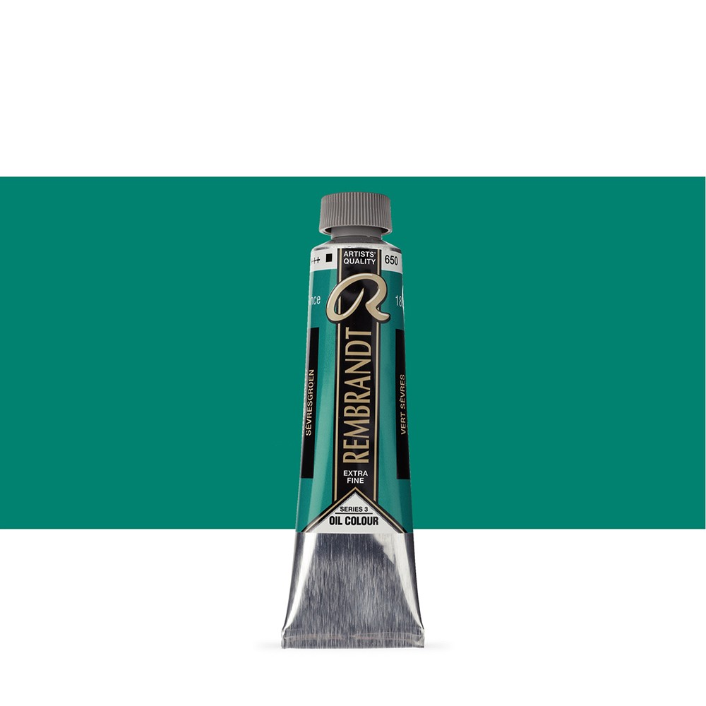 Talens : Rembrandt Oil Paint : 40 ml Tube : Sevres Green