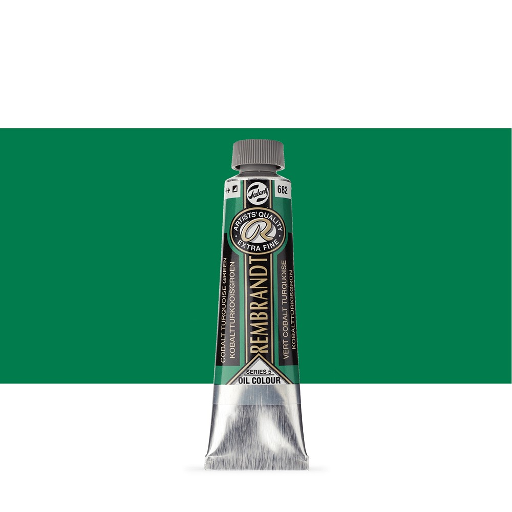 Talens : Rembrandt Oil Paint : 40 ml Tube : Cobalt Turquoise Green