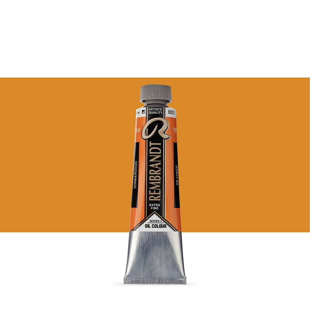 Talens : Rembrandt Oil Paint : 40 ml Tube : Deep Gold