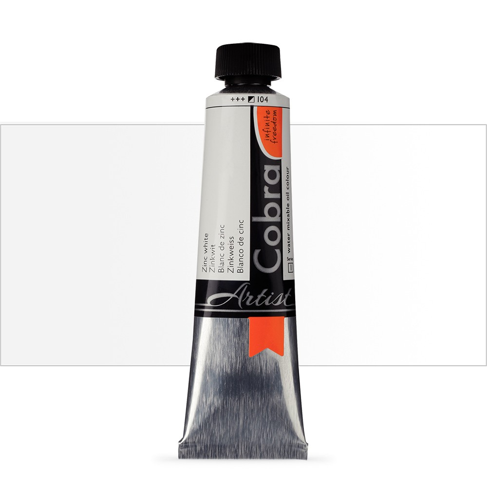 Talens : Cobra Artist Water Mixable Oil Paint : 40ml Zinc White