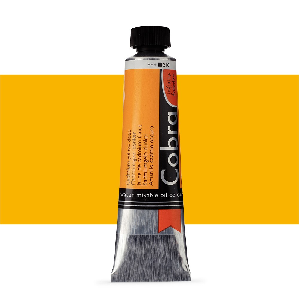 Talens : Cobra Artist Water Mixable Oil Paint : 40ml Cadmium Yellow Deep