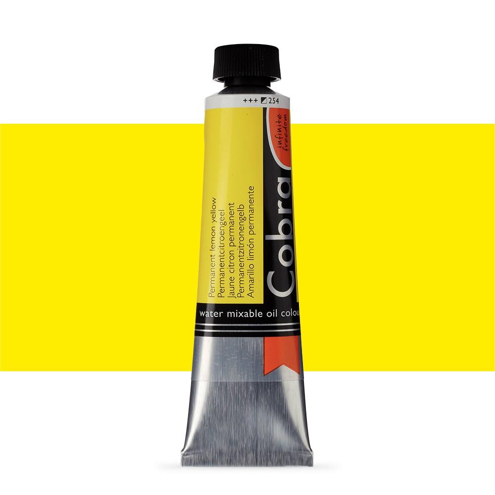 Talens : Cobra Artist Water Mixable Oil Paint : 40ml Permanent Lemon Yellow