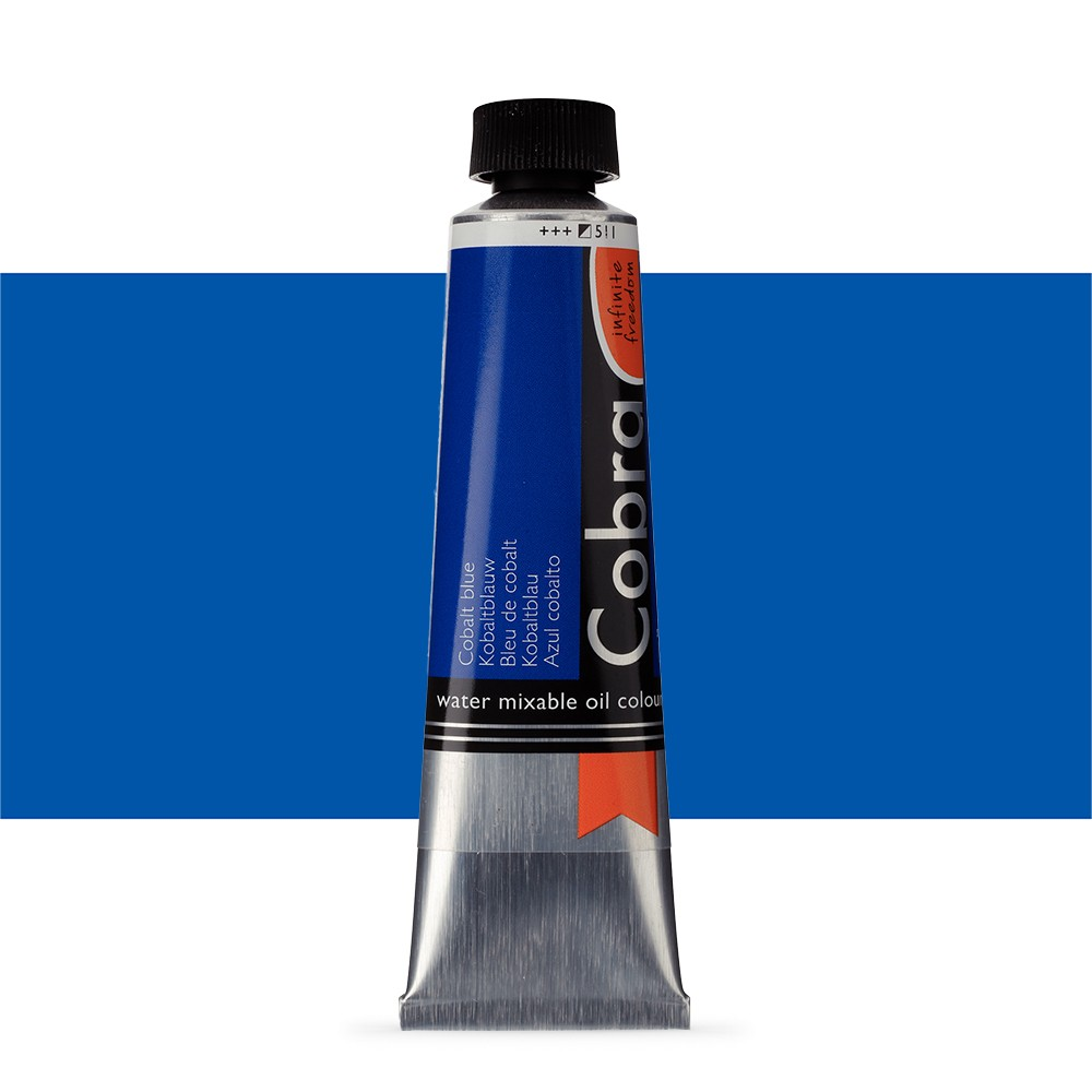 Talens : Cobra Artist Water Mixable Oil Paint : 40ml Cobalt Blue