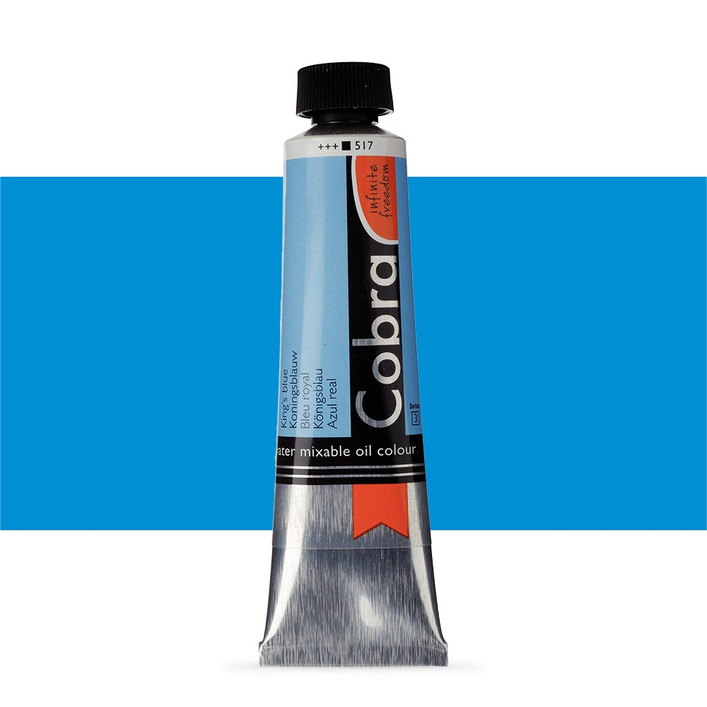 Talens : Cobra Artist Water Mixable Oil Paint : 40ml Kings Blue