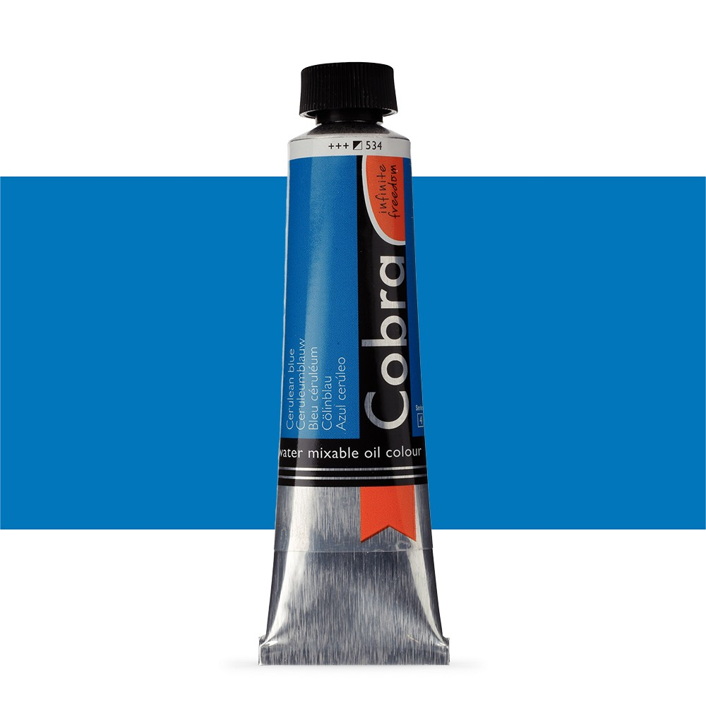 Talens : Cobra Artist Water Mixable Oil Paint : 40ml Cerulean Blue