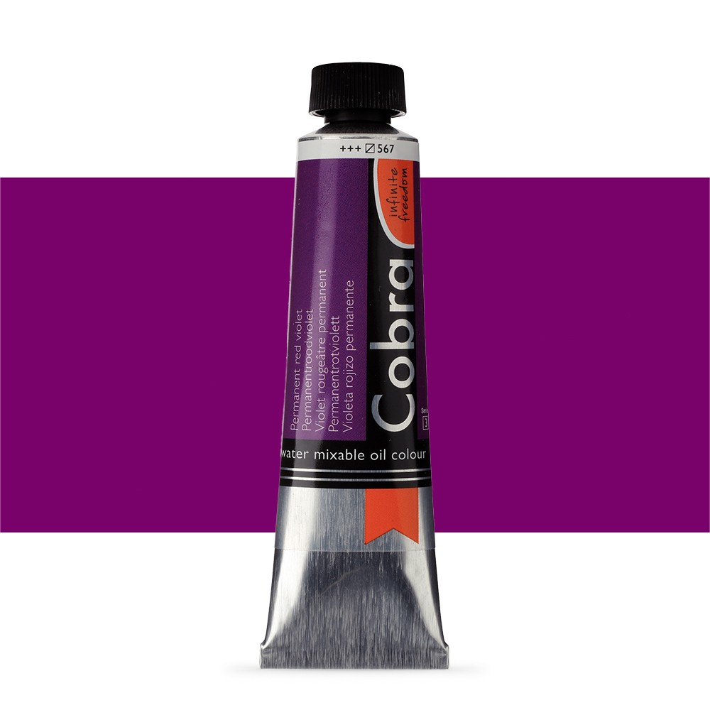 Talens : Cobra Artist Water Mixable Oil Paint : 40ml Permanent Red Violet