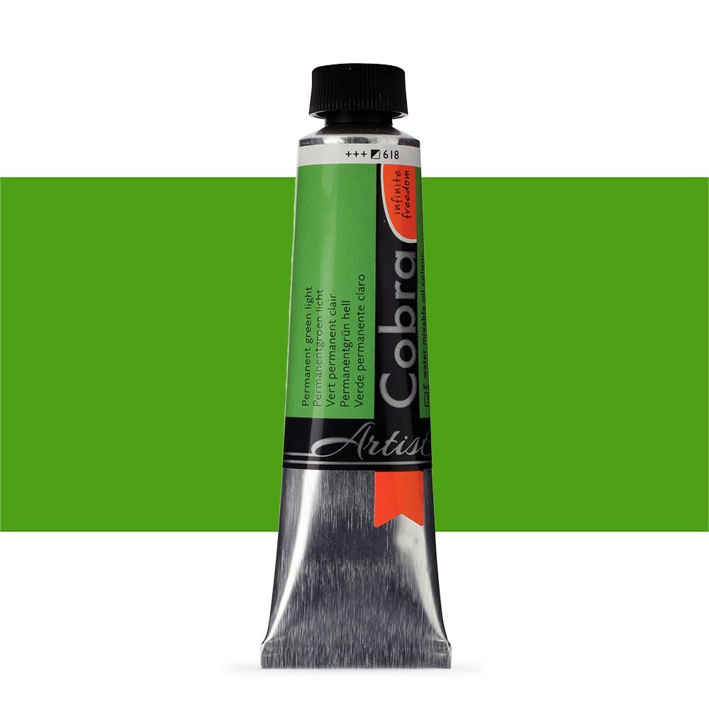 Talens : Cobra Artist Water Mixable Oil Paint : 40ml Permanent Green Light