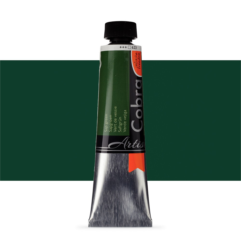 Talens : Cobra Artist Water Mixable Oil Paint : 40ml Sap Green