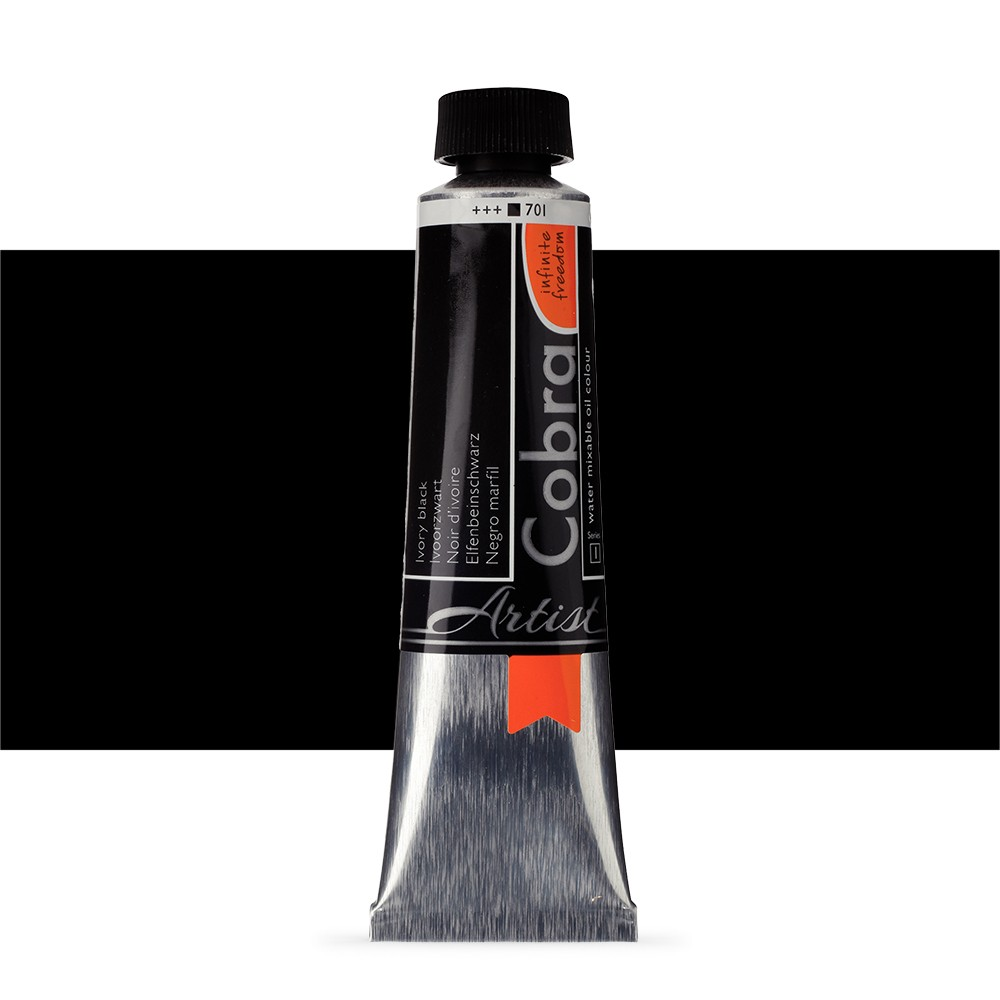 Talens : Cobra Artist Water Mixable Oil Paint : 40ml Ivory Black