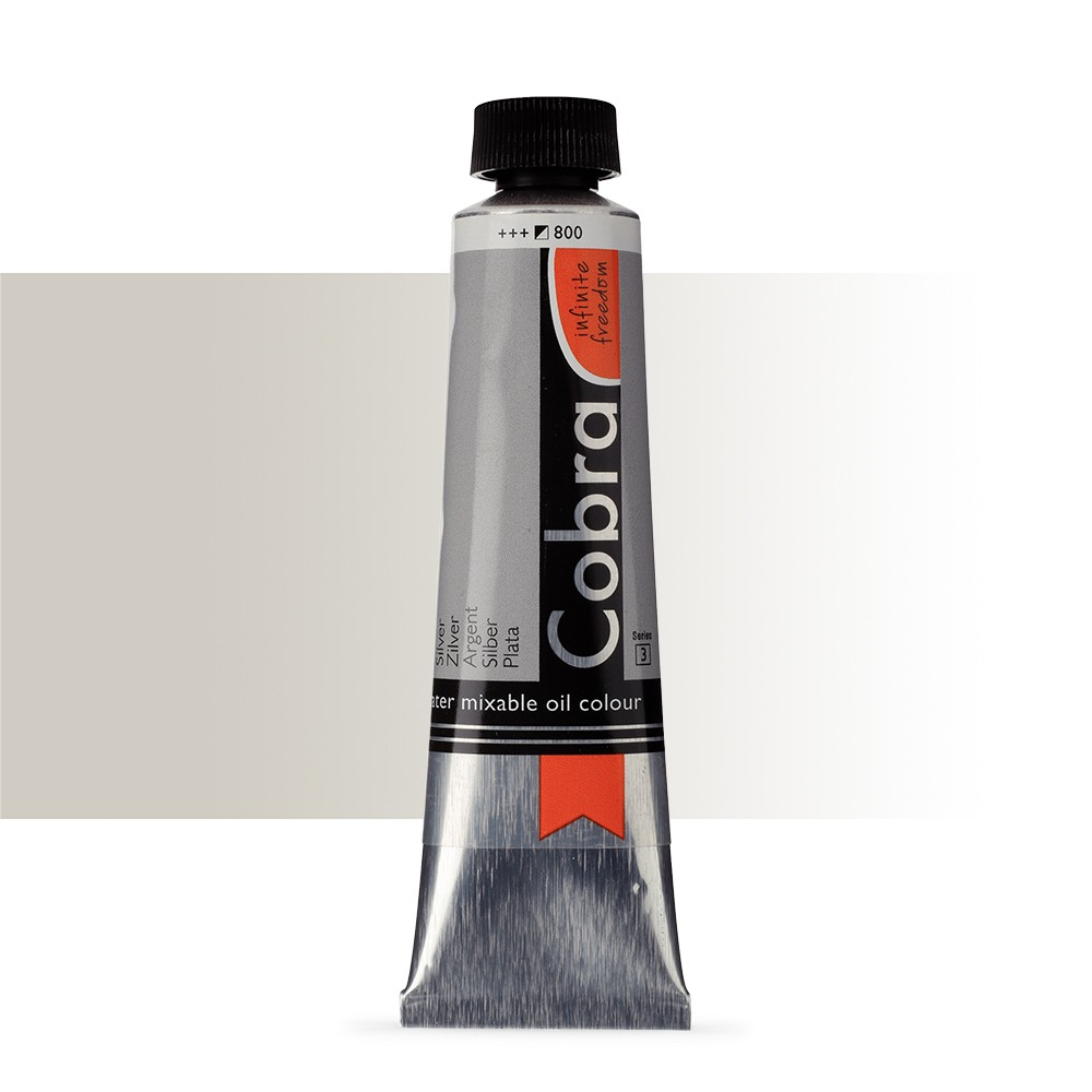 Talens : Cobra Artist Water Mixable Oil Paint : 40ml : Silver