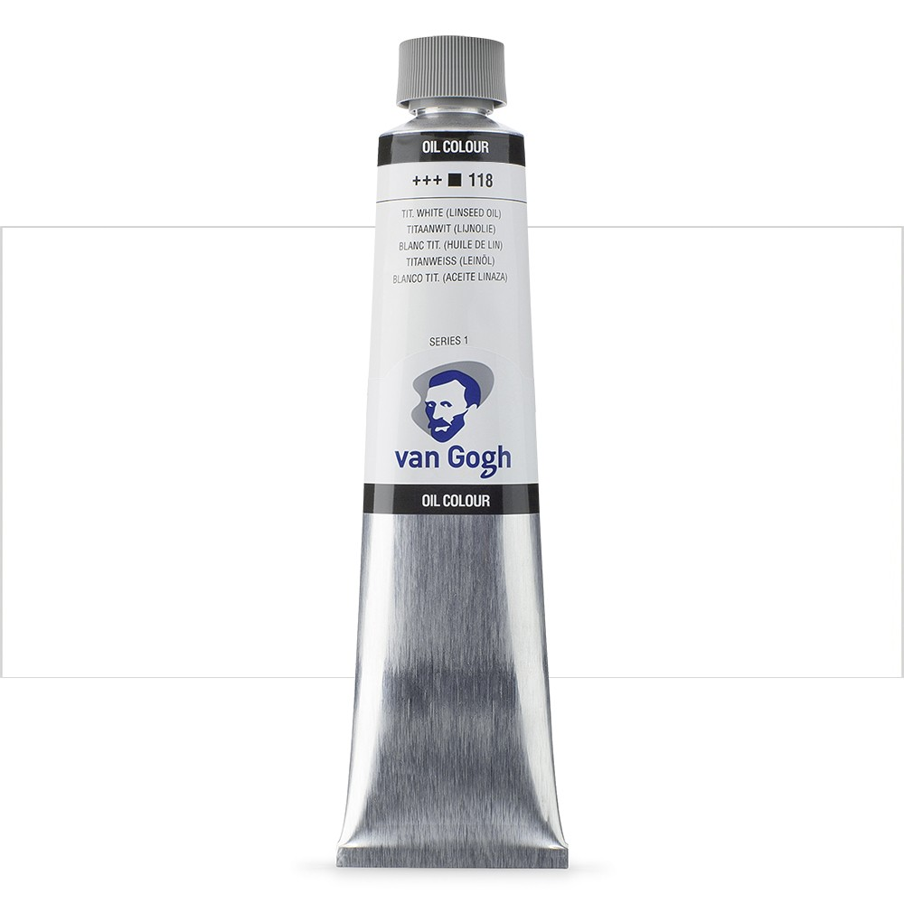 Talens : Van Gogh Oil Colour 200ml : TITANIUM WHITE-LINS. S1