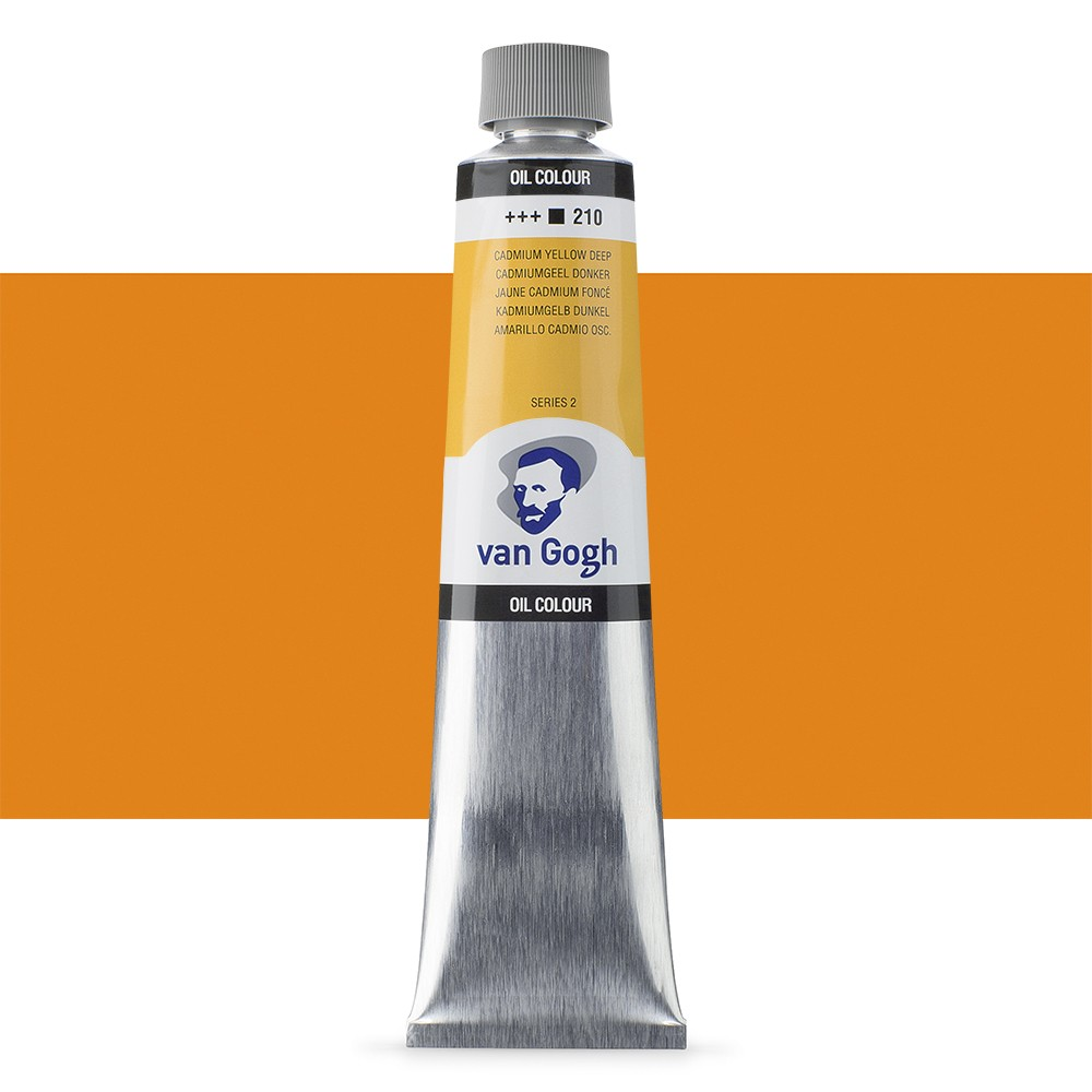 Talens : Van Gogh Oil Paint 200ml : Cadmium Yellow Deep S2