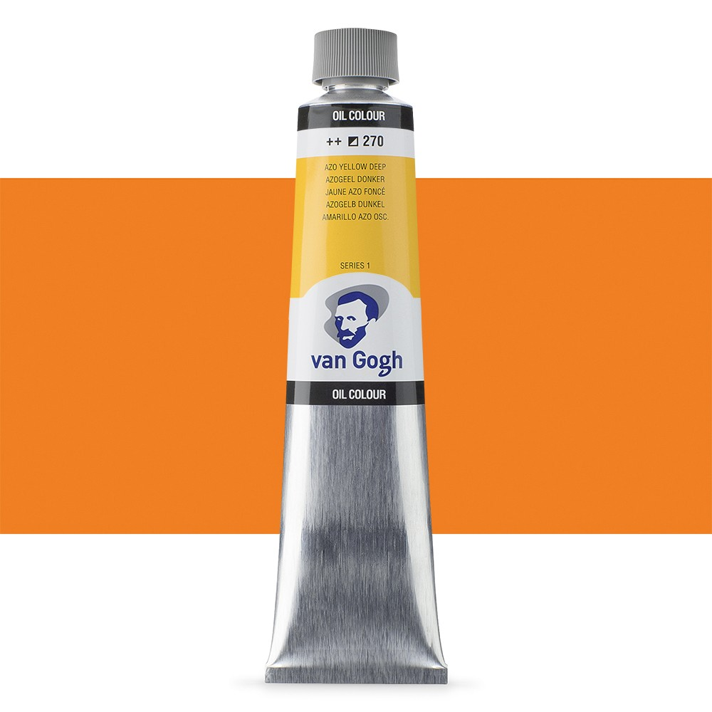 Talens : Van Gogh Oil Paint 200ml : Azo Yellow Deep S1