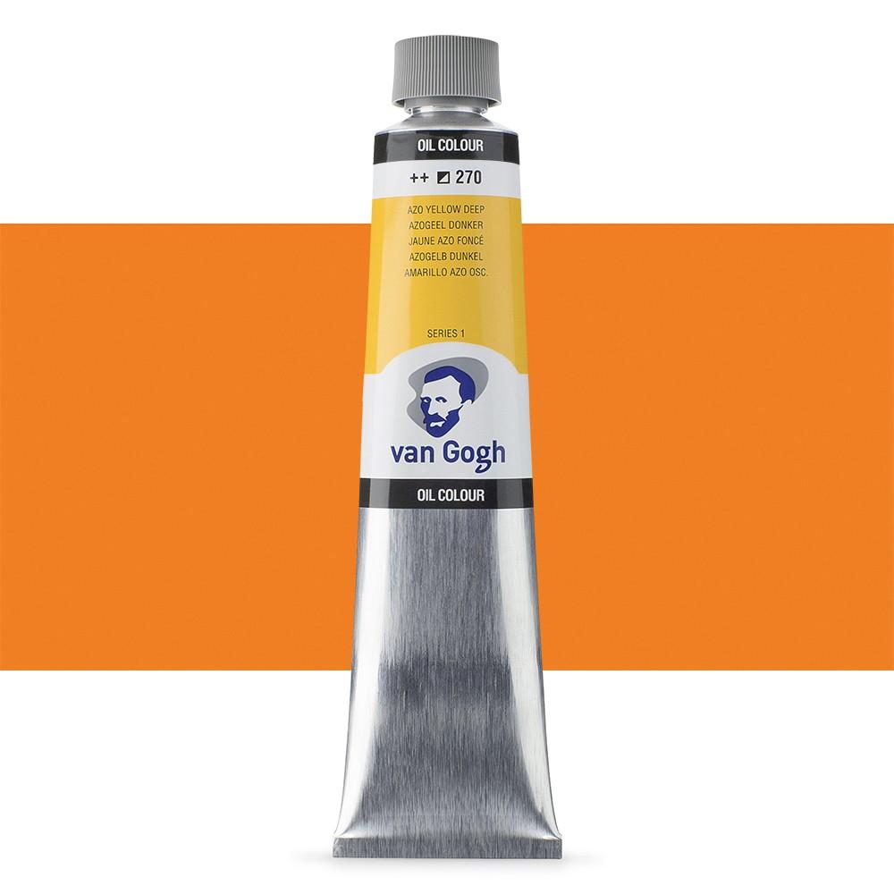 Talens : Van Gogh Oil Paint 200ml : Azo Yellow Deep S1