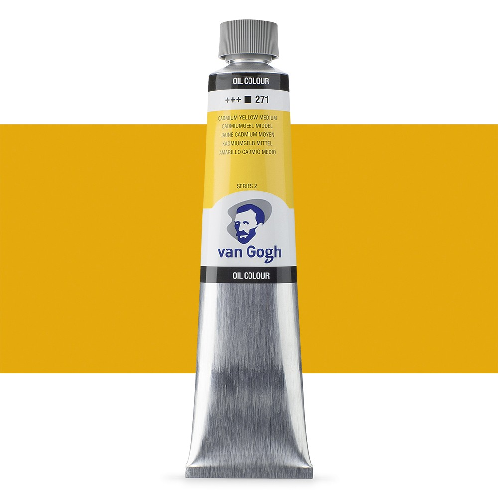 Talens : Van Gogh Oil Paint 200ml : Cadmium Yellow Med. S2