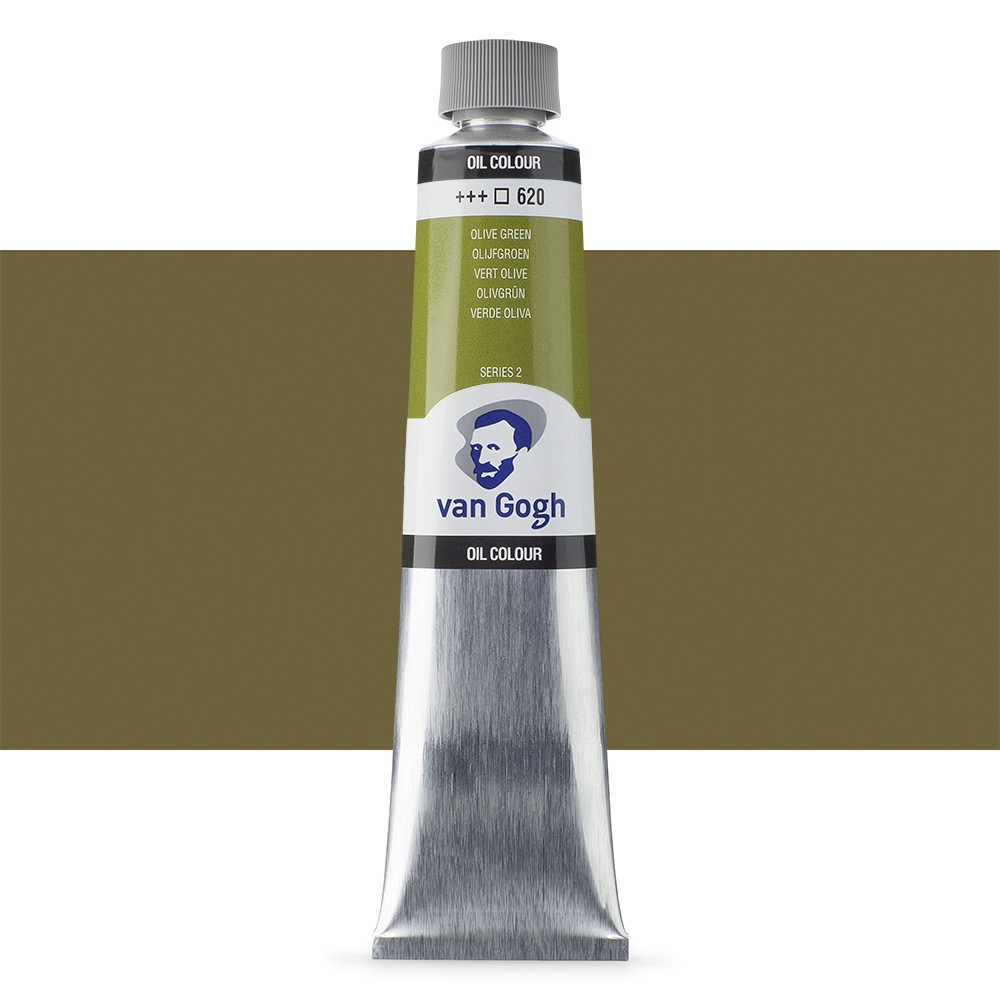 Talens : Van Gogh Oil Paint 200ml : Permament Olive Green S2