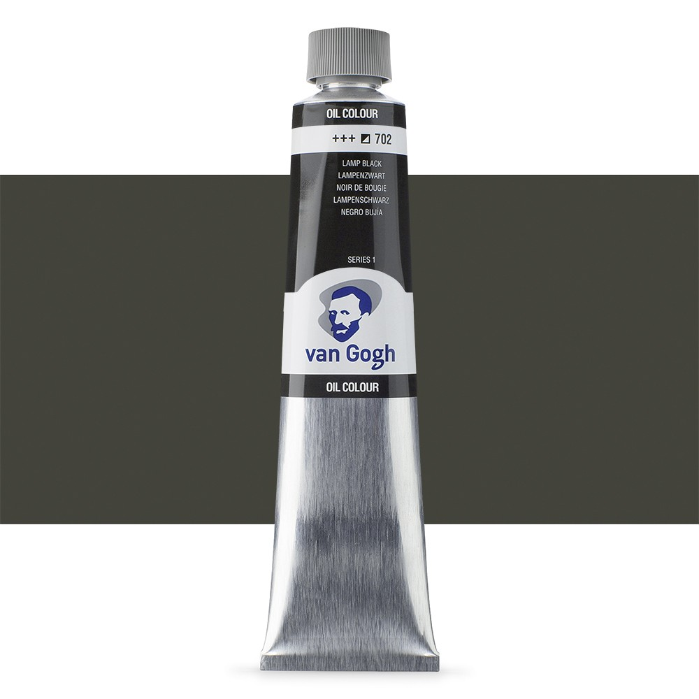 Talens : Van Gogh Oil Colour 200ml : LAMP BLACK S1