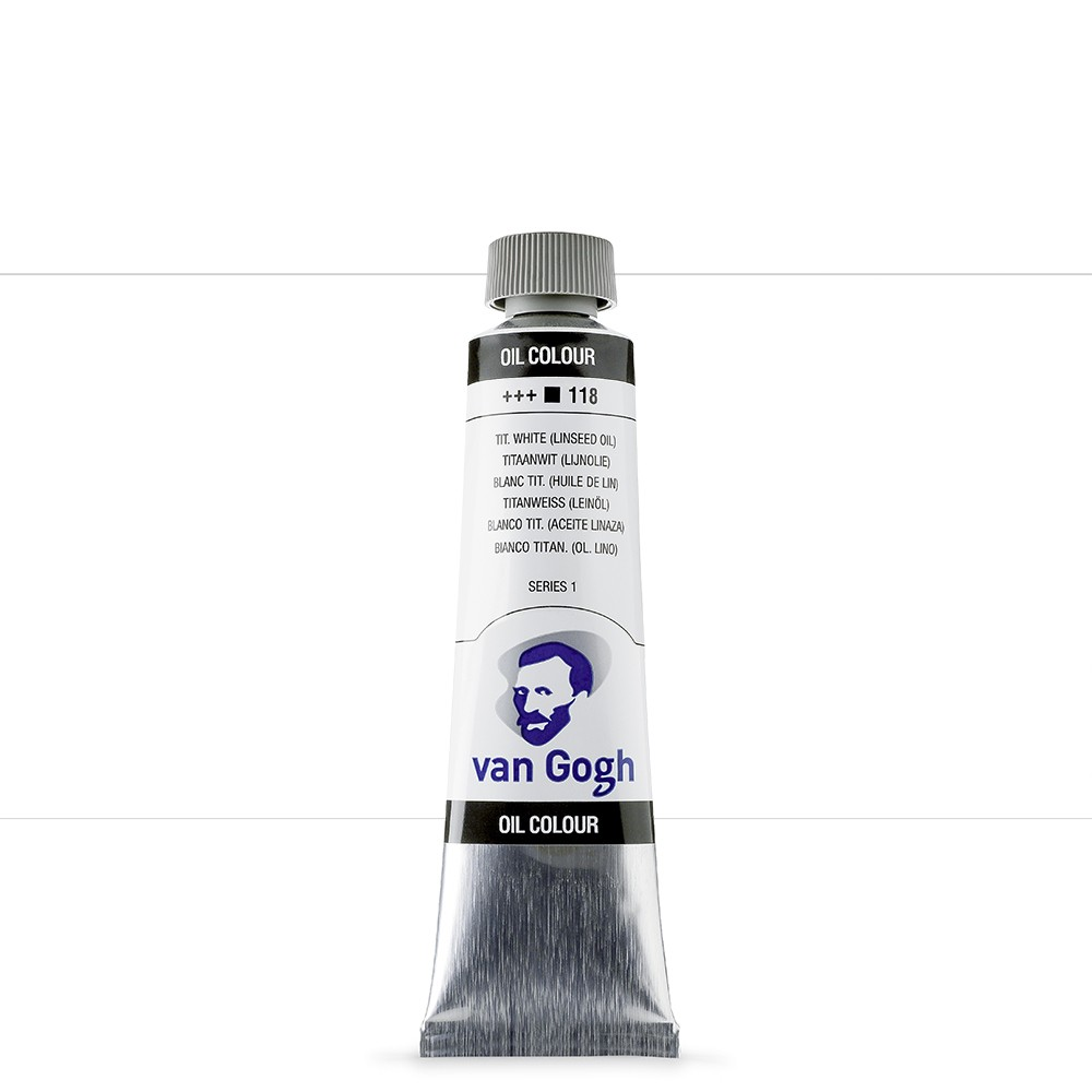 Talens : Van Gogh Oil Paint : 40ml : Titanium White Linseed S1