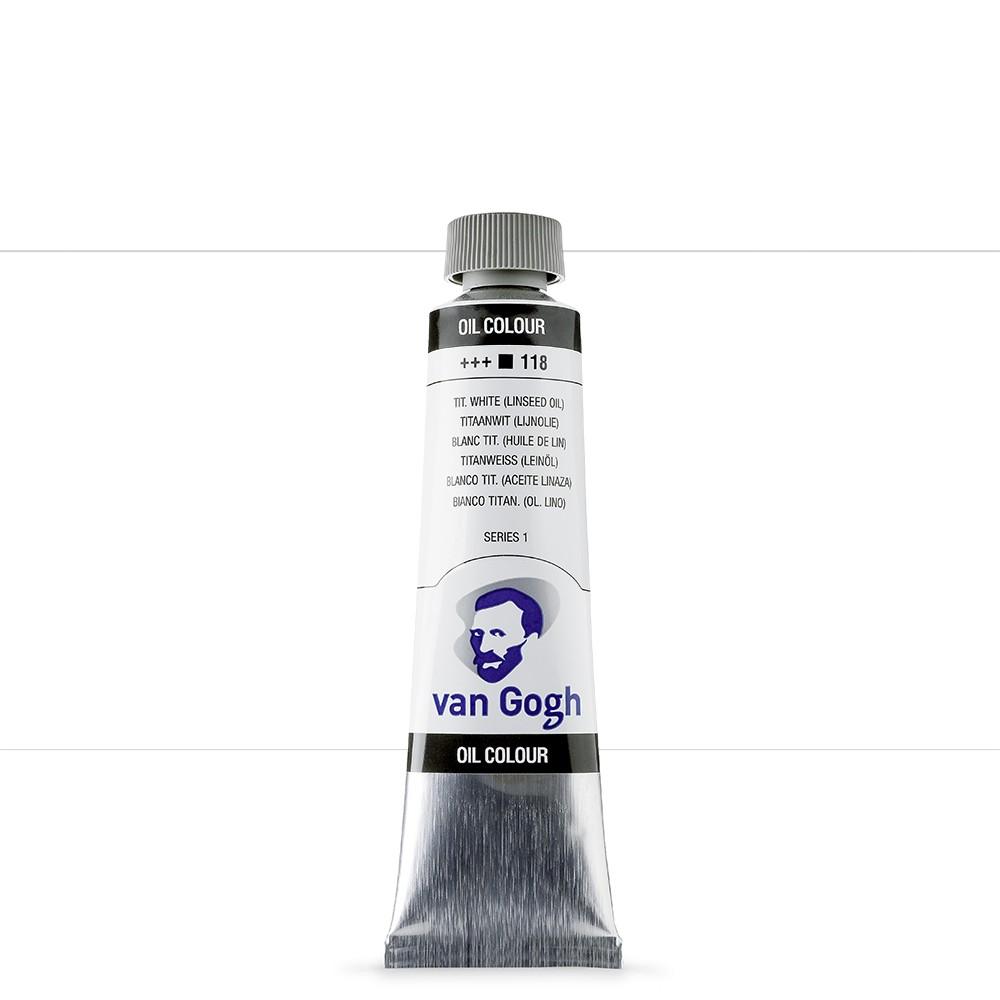 Talens : Van Gogh Oil Paint : 40ml : Titanium White Linseed S1