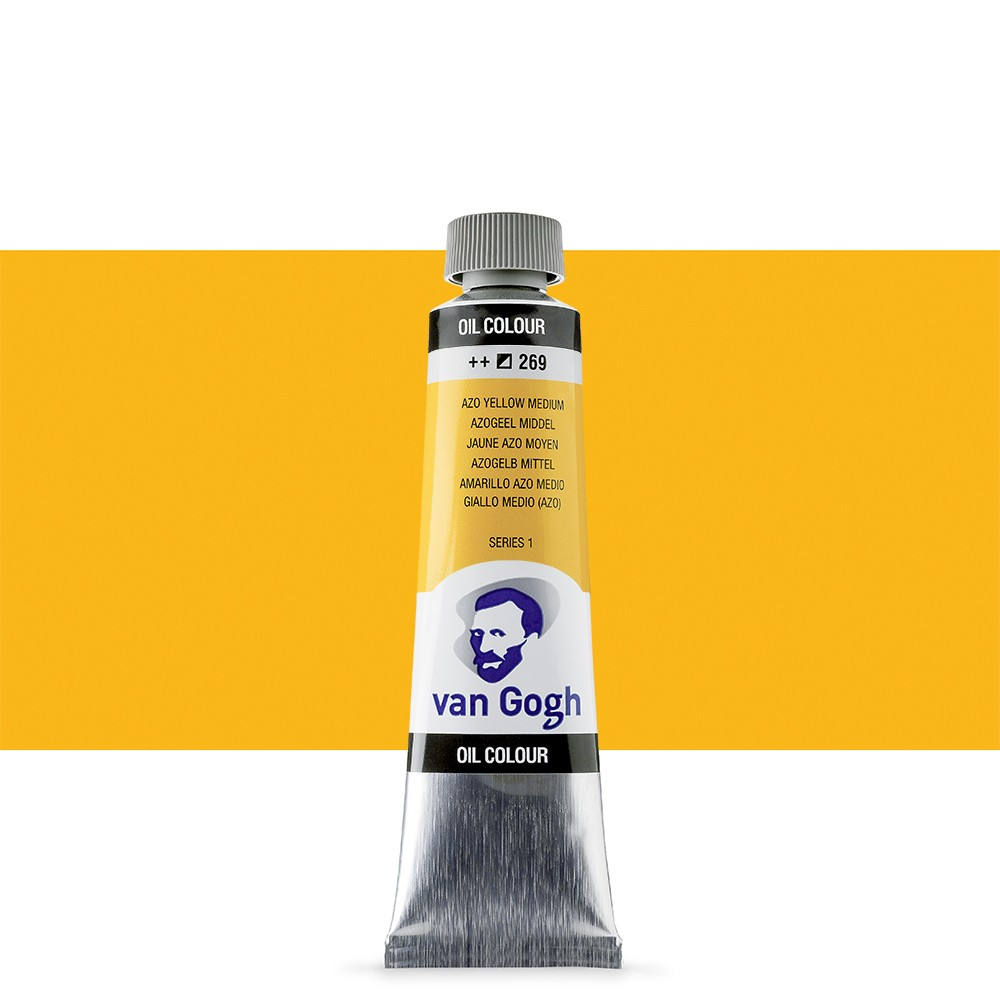 Talens : Van Gogh Oil Paint 40ml : Azo Yellow Medium S1