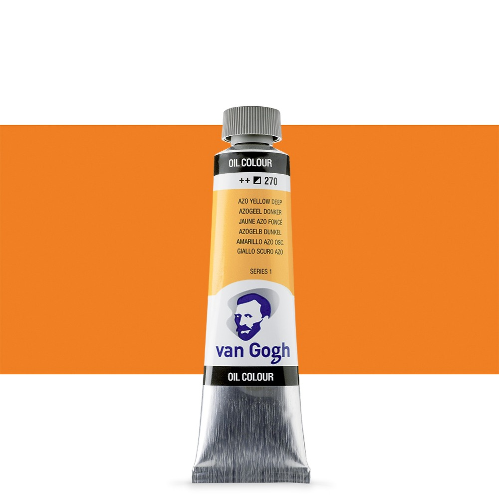 Talens : Van Gogh Oil Paint 40ml : Azo Yellow Deep S1
