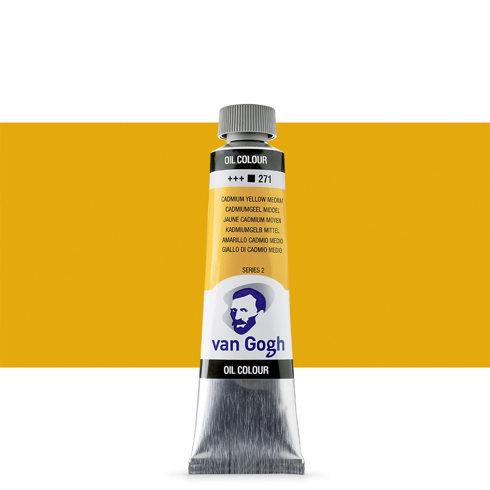 Talens : Van Gogh Oil Paint 40ml : Cadmium.Yellow Med. S2