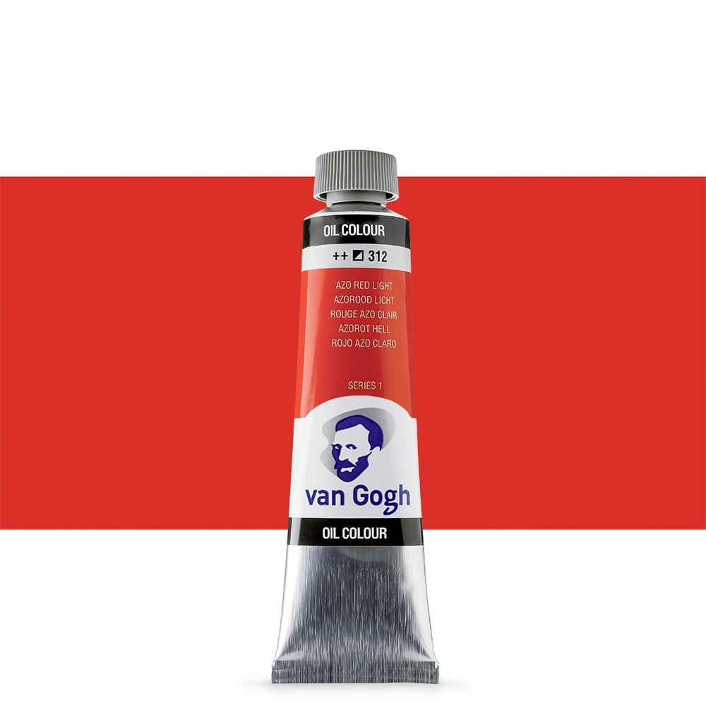 Talens : Van Gogh Oil Paint : 40ml : Azo Red Light S1