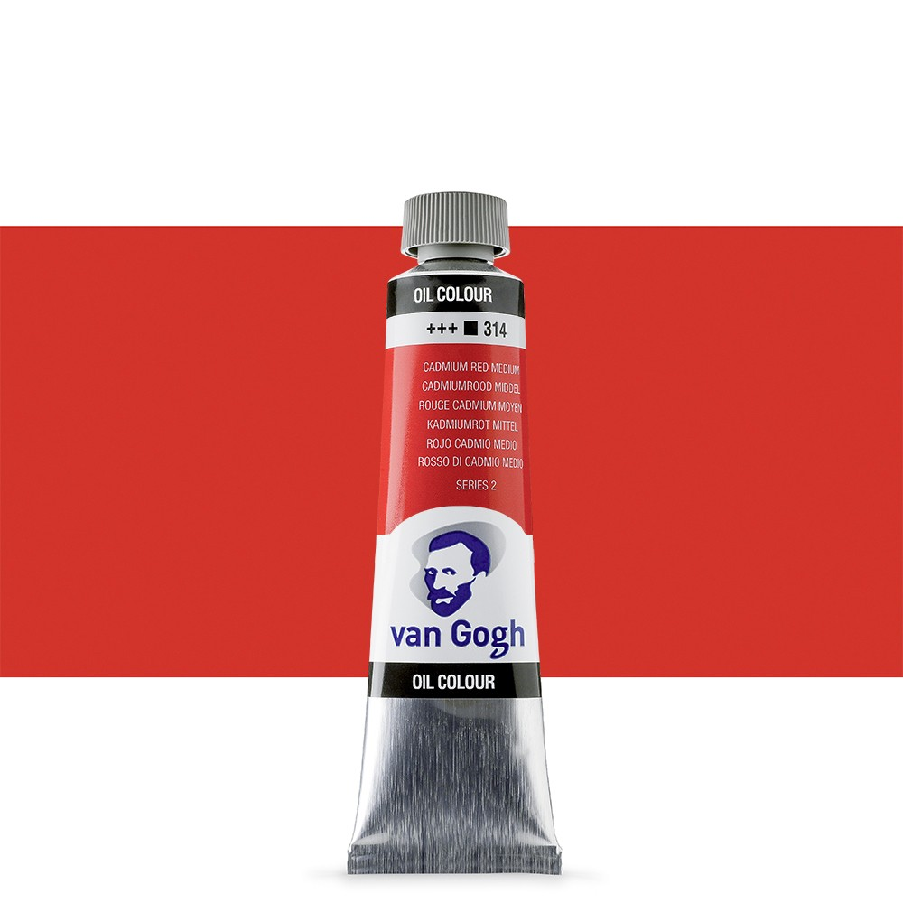 Talens : Van Gogh Oil Colour 40ml : CADMIUM.RED MEIUMD. S2