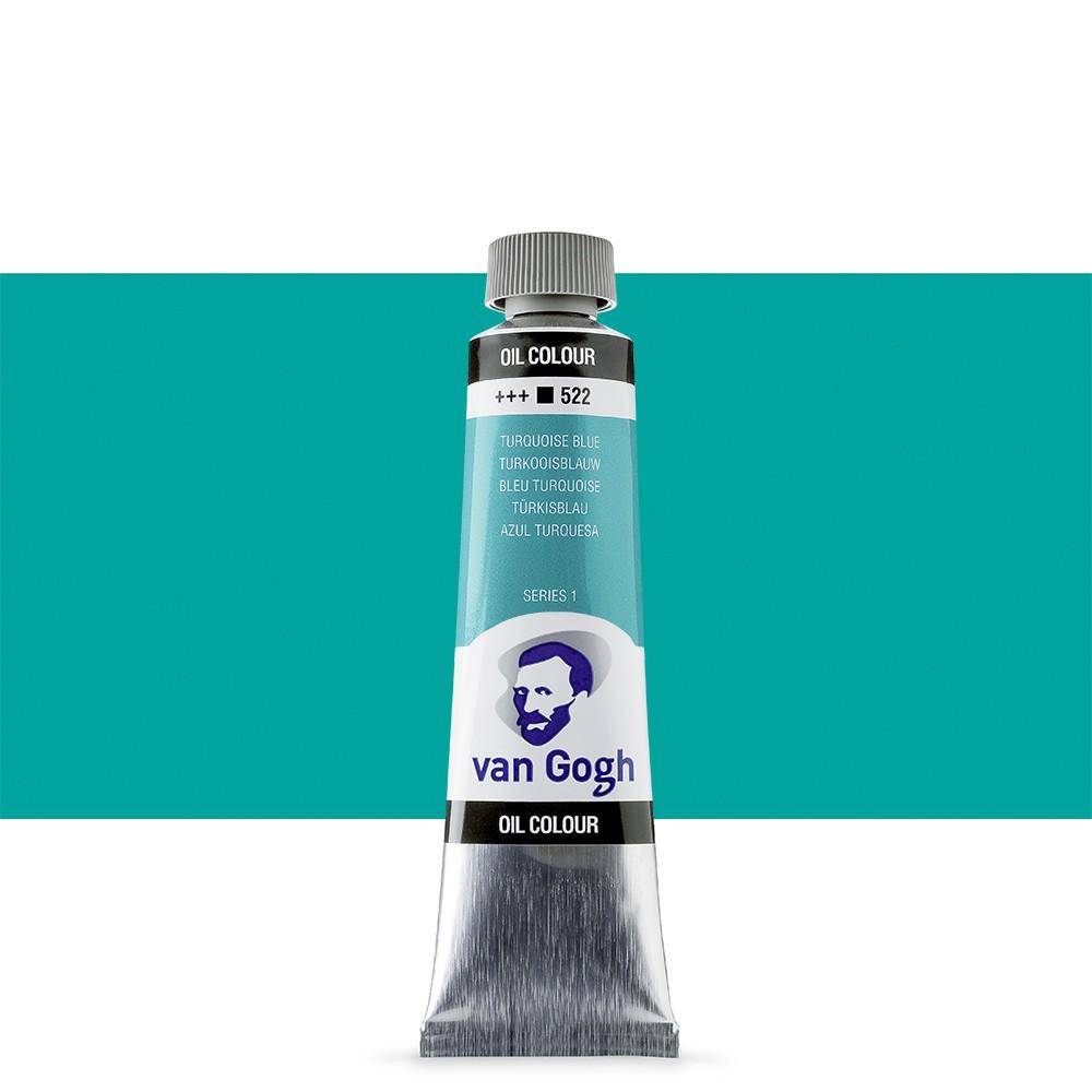Talens : Van Gogh Oil Paint : 40ml : Turquoise Blue S1
