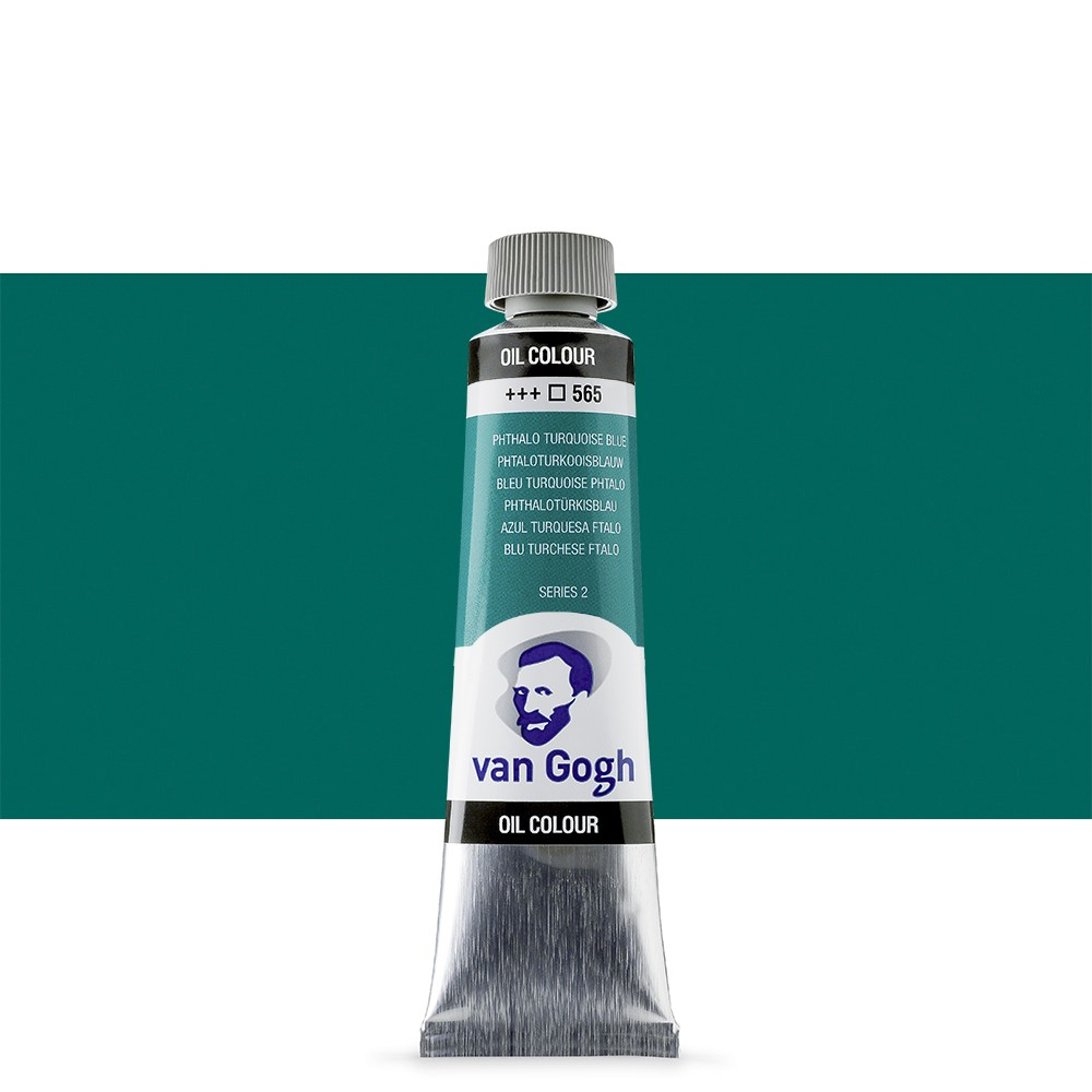 Talens : Van Gogh Oil Colour 40ml : PHTHALO TURQUOISE BLUE S2