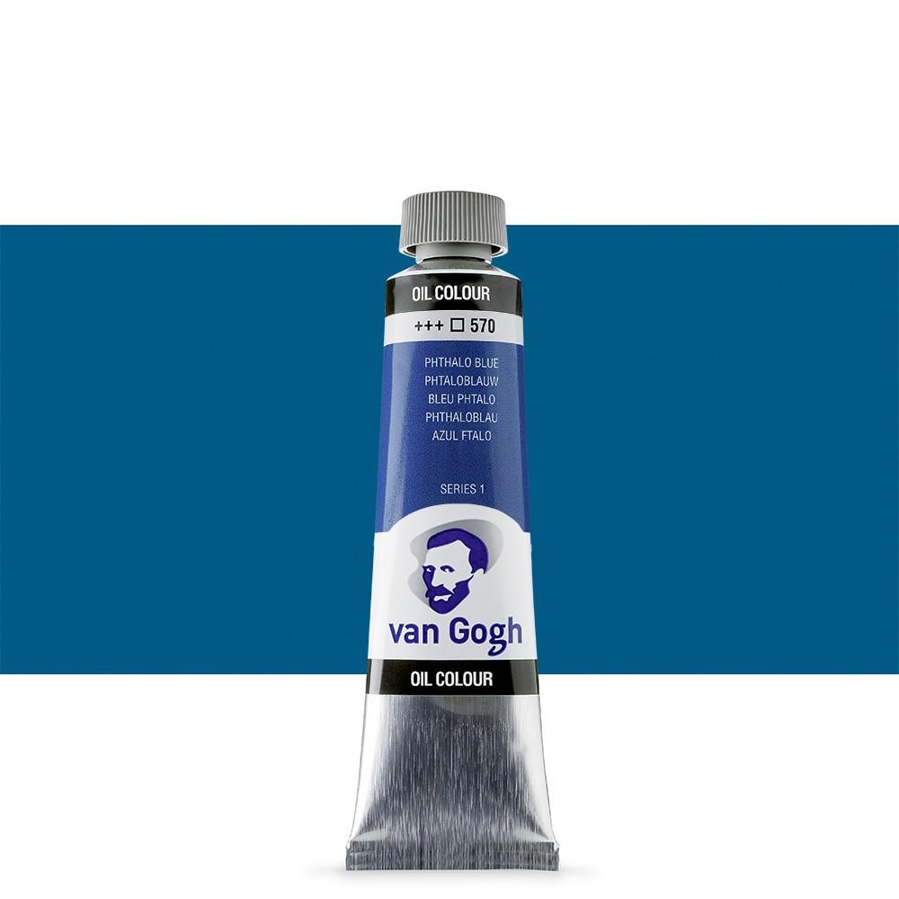 Talens : Van Gogh Oil Paint 40ml : Phthalo Blue S1