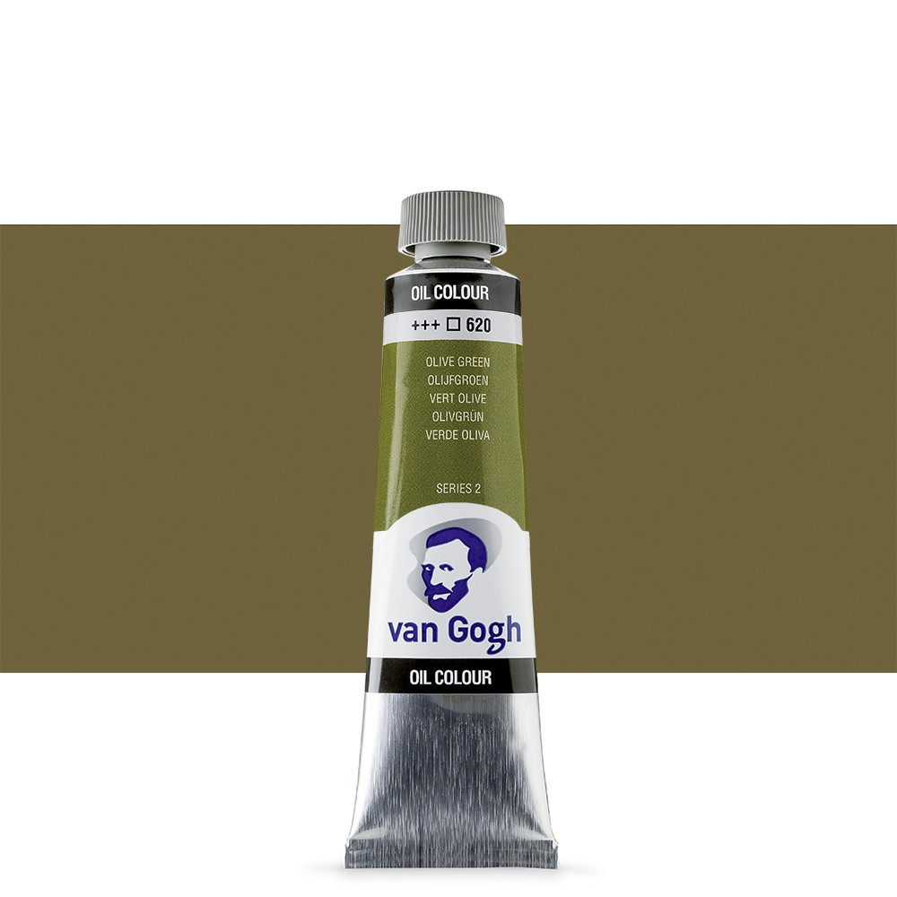 Talens : Van Gogh Oil Paint 40ml : Permanent Olive Green S2