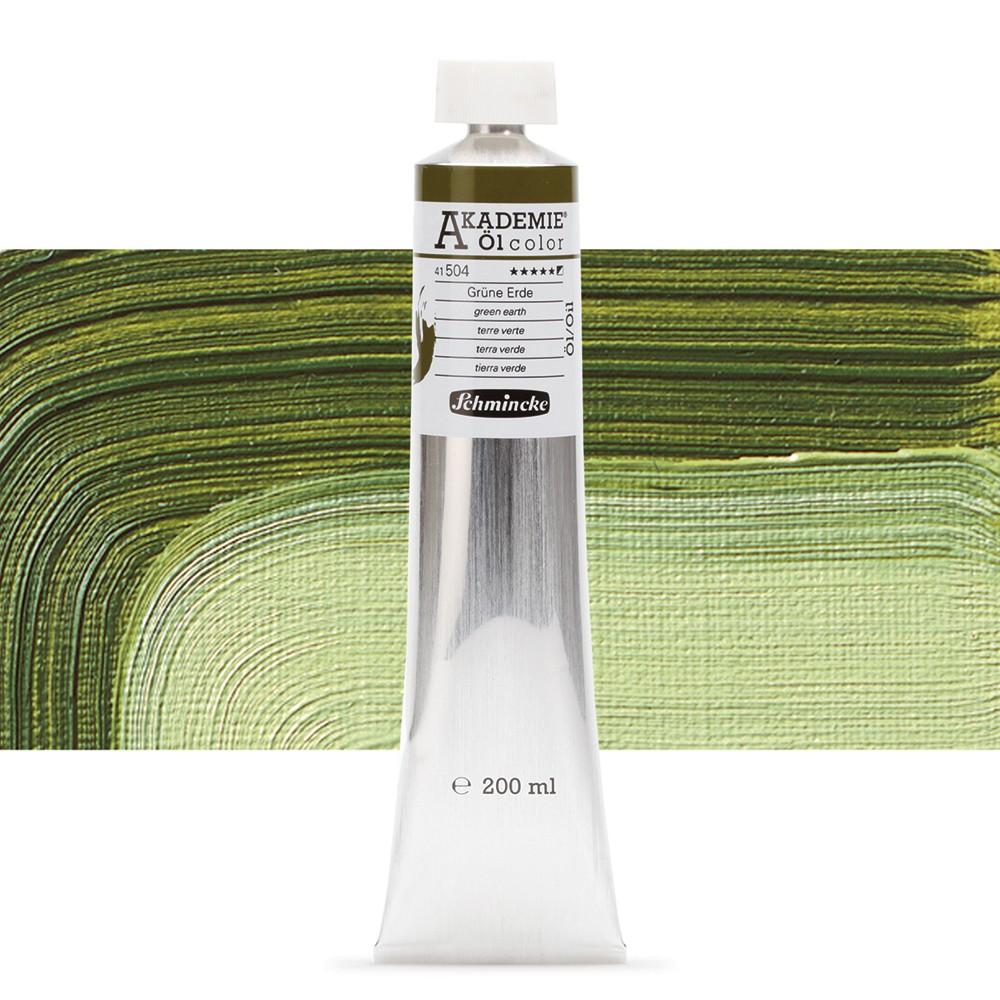 Schmincke : Akademie Oil Paint : 200ml : Green Earth