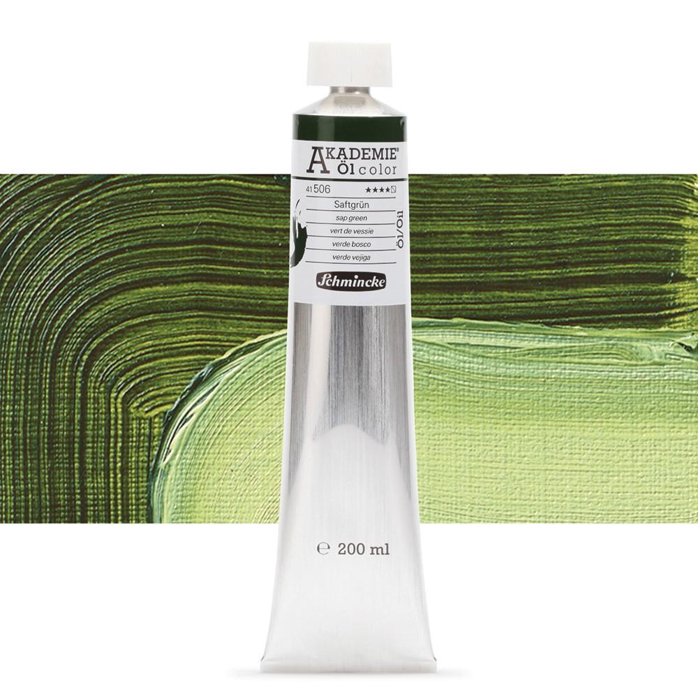 Schmincke : Akademie Oil Paint : 200ml : Sap Green