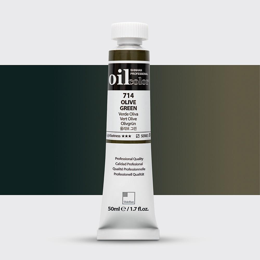ShinHan : Oil Paint : 50ml : Olive Green