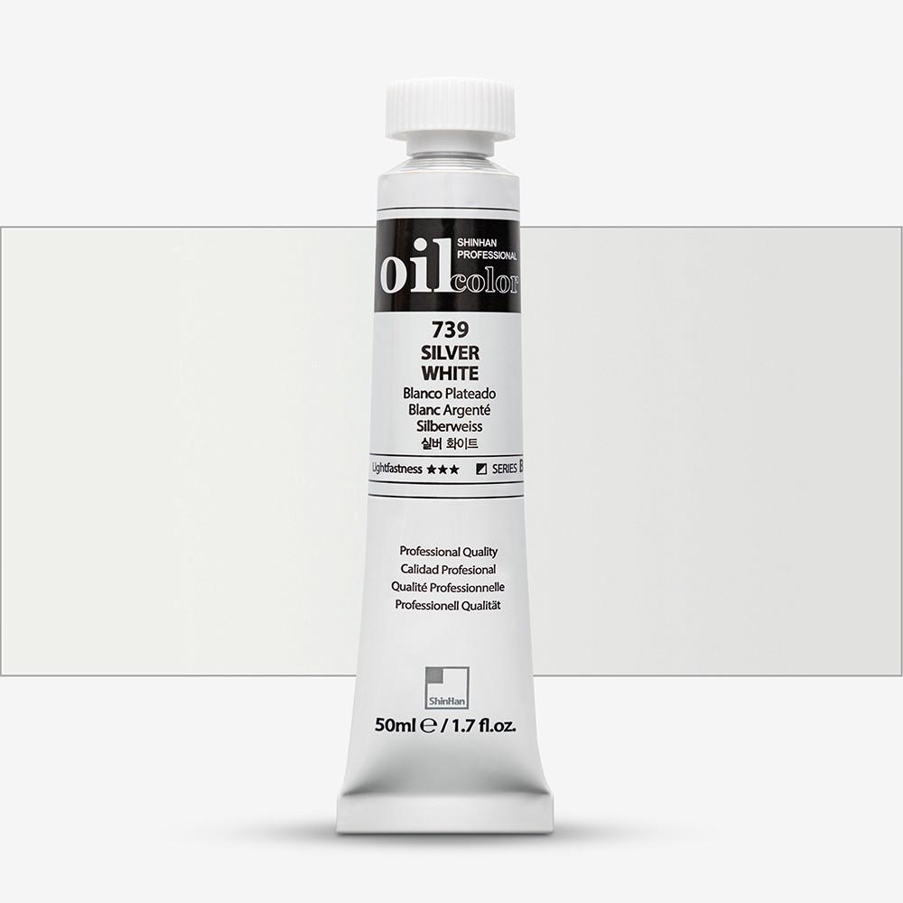ShinHan : Oil Paint : 50ml : Silver White