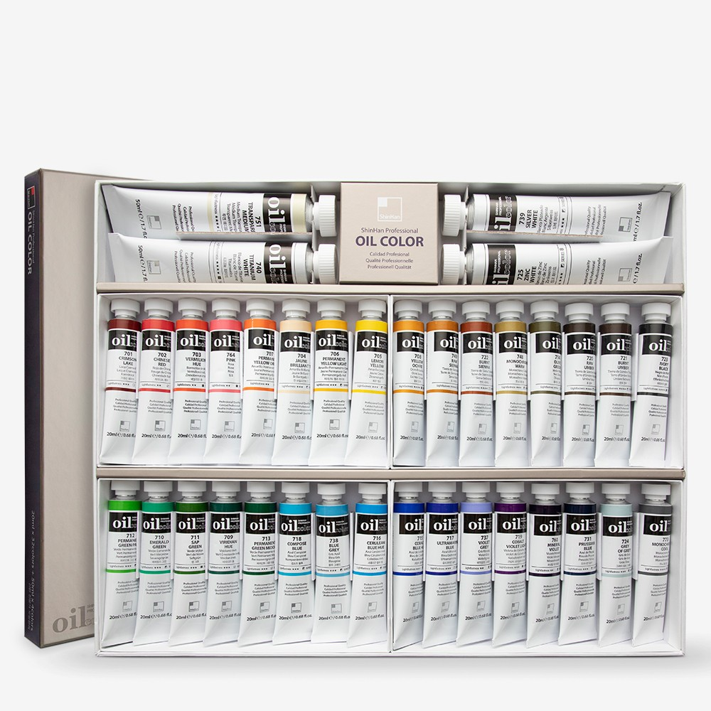 ShinHan : Oil Paint : Set 20ml x 32 colours & 4 x 50ml whites