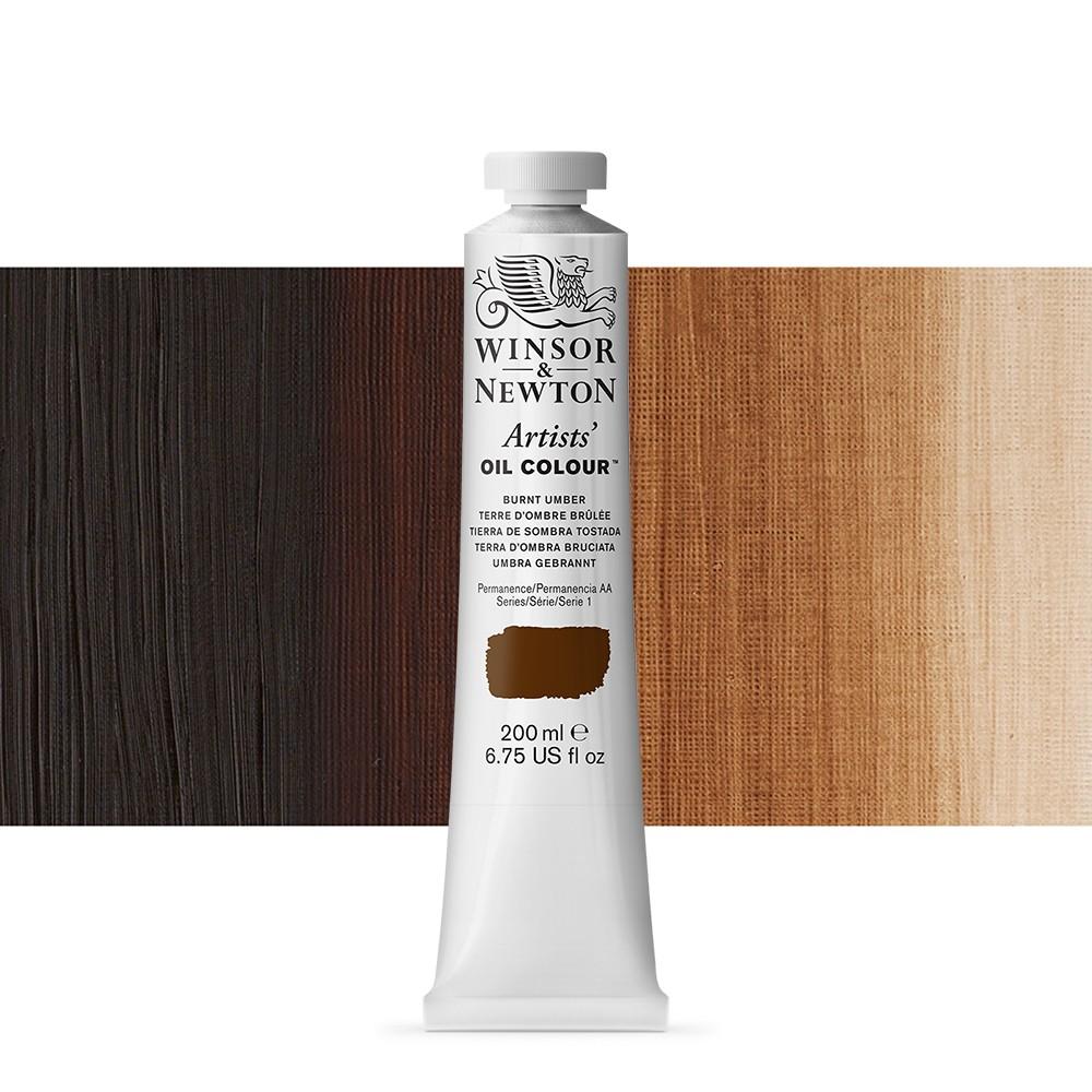 Winsor Newton Artists Oil Paint 200ml Burnt Umber