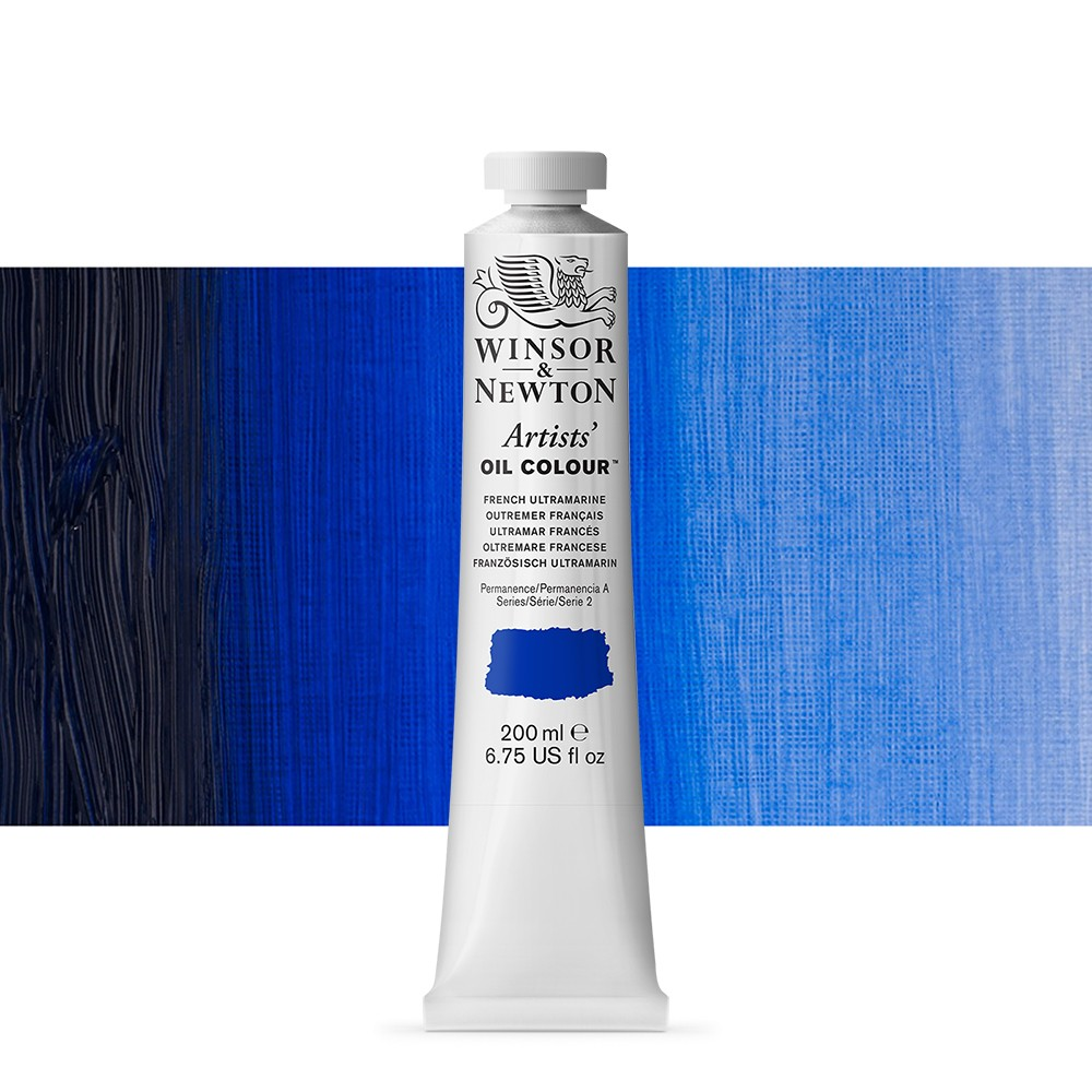 Winsor & Newton : Artists Oil Paint 200ml : French Ultramarine