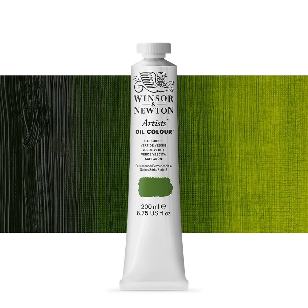 Winsor & Newton : Artists Oil Paint 200ml : Sap Green