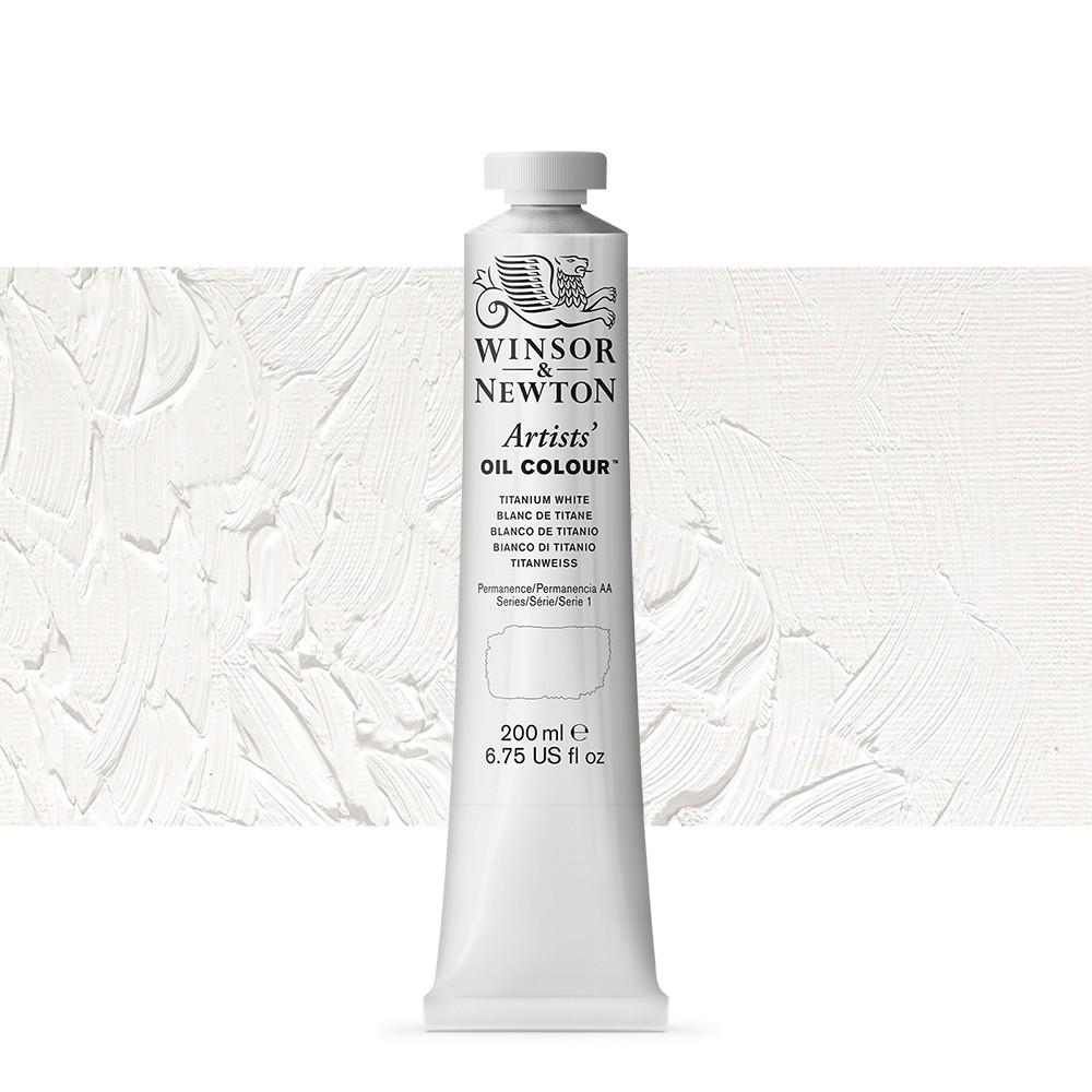 Winsor and Newton : Artists Oil 200ml : TITANIUM WHITE