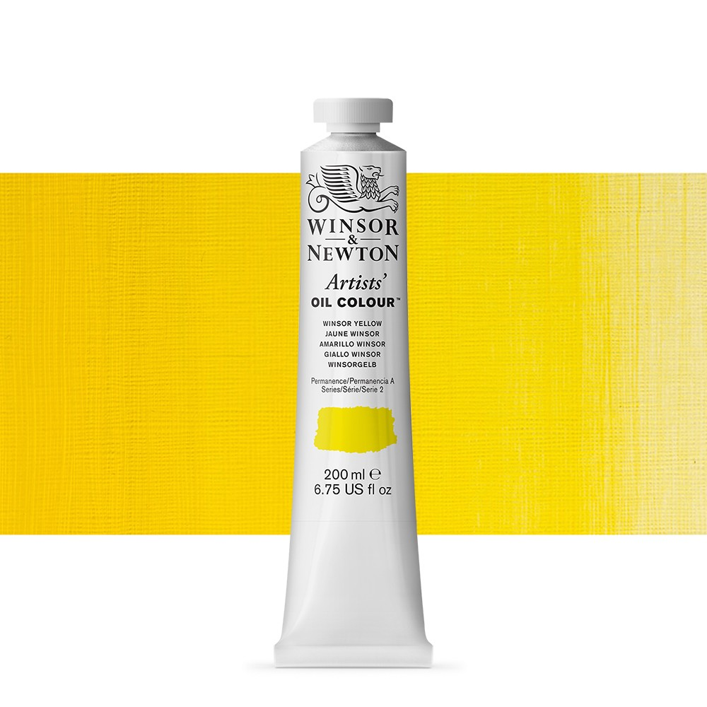 Winsor & Newton : Artists Oil Paint 200ml : Winsor Yellow