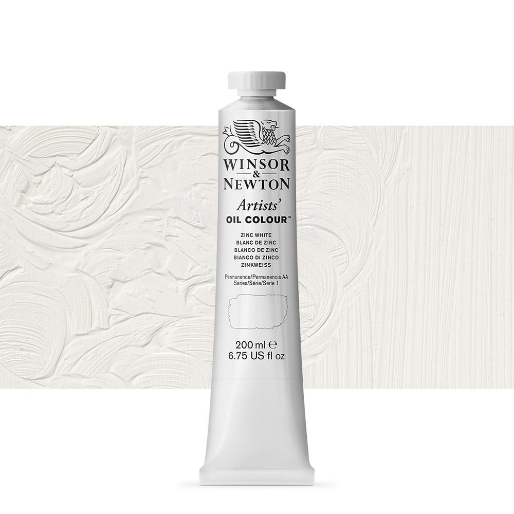 Winsor & Newton : Artists Oil Paint 200ml : Zinc White
